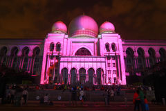 Kuala Lumpur: Het licht en de Motie van Putrajaya (LAMPU) in Putrajaya vanaf 12 Dec aan 14 Dec 2014 trokken duizend van mensen aa Royalty-vrije Stock Foto's