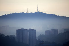 Kuala Lumpur Hill in the morning Stock Photography