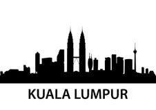 Kuala Lumpur horisont vektor illustrationer