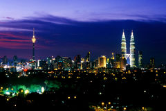 Kuala Lumpur horisont Royaltyfri Bild