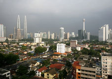 Kuala Lumpur horisont Arkivfoto