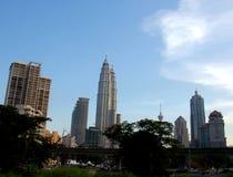 Kuala Lumpur horisont royaltyfria bilder
