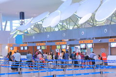 Kuala Lumpur Airport 2 Check in counter Royalty Free Stock Images