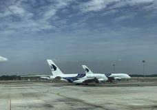KUALA LUMPUR INTERNATIONELL FLYGPLATS, SEPANG, MALAYSIA JANUARI 17 Royaltyfri Foto