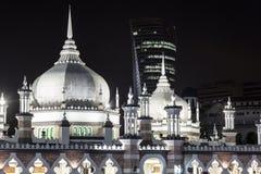 Kuala Lumpur Jamek masjid Arkivbilder