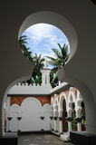 Kuala Lumpur Jamek Mosque i Malaysia Arkivfoto