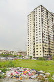 KUALA LUMPUR, JANUARY 20, 2017 - Street scene in China Town, famous landmark of KL, Malaysia. Blocks of flats with car parking in Kuala Lumpur, Malaysia, Asia Royalty Free Stock Images