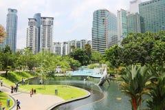 Kuala Lumpur, jardín de Petronas Foto de archivo