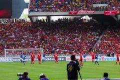 Fotboll fläktar Arkivfoton