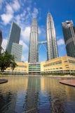 Kuala Lumpur KLCC towers Royalty Free Stock Photography
