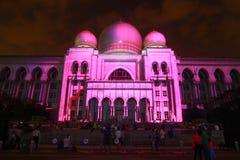 Kuala Lumpur: La luce ed il moto di Putrajaya (LAMPU) a Putrajaya dal 12 dicembre al 14 dicembre 2014 hanno attirato mille della  Fotografie Stock Libere da Diritti
