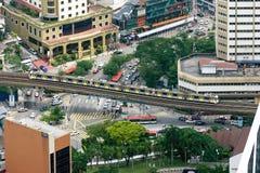 Kuala Lumpur Light Rail Transit (LRT) drev arkivbild