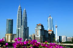 Kuala Lumpur linia horyzontu Obrazy Royalty Free