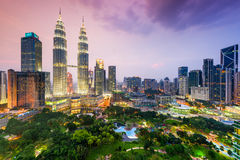 Kuala Lumpur linia horyzontu Zdjęcie Stock