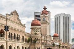 Kuala Lumpur linia horyzontu wokoło Merdeka kwadrata Zdjęcie Royalty Free