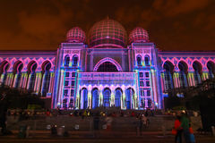 Kuala Lumpur: Ljus och rörelse av Putrajaya (LAMPU) på Putrajaya från 12 December till 14 December 2014 tilldrog tusen av folk Fotografering för Bildbyråer