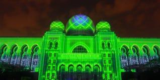Kuala Lumpur: Ljus och rörelse av Putrajaya (LAMPU) på Putrajaya från 12 December till 14 December 2014 tilldrog tusen av folk Royaltyfria Foton