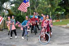 Kuala Lumpur, Malásia 3 de agosto de 2017: Estudantes preliminares malaios Fotografia de Stock Royalty Free