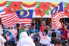 Kuala Lumpur, Malásia 3 de agosto de 2017: Estudantes preliminares malaios Fotos de Stock Royalty Free