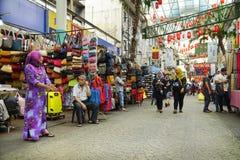 KUALA LUMPUR, MALÁSIA - 10 DE JANEIRO DE 2017: Cena da rua em Kuala Lumpur, Malásia Imagem de Stock