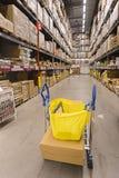 KUALA LUMPUR, MALÁSIA 21 DE NOVEMBRO DE 2015: Trole da compra na loja de IKEA, Damansara, Kuala Lumpur Imagem de Stock