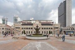 KUALA LUMPUR, MALÁSIA - 23 DE OUTUBRO: Quadrado de Merdeka dentro do centro Foto de Stock