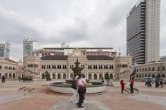 KUALA LUMPUR, MALÁSIA - 23 DE OUTUBRO: Quadrado de Merdeka dentro do centro Fotografia de Stock Royalty Free