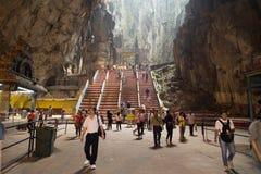 Kuala Lumpur, Malásia - 27 de setembro: Os turistas vêm visitar dentro imagem de stock