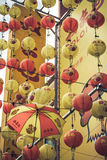 Kuala Lumpur, Malásia, dezembro 18,2013: Decorat chinês do ano novo Imagens de Stock Royalty Free