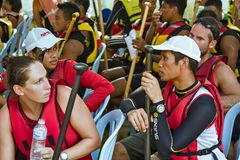KUALA LUMPUR, MALÁSIA, Dragon Boat Festival imagens de stock royalty free