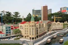 Kuala Lumpur, Malaisia - 13 ottobre: Frammento grande grande Maket Via, porto e costruzioni dei gemelli Fotografia Stock Libera da Diritti