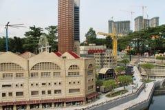 Kuala Lumpur, Malaisia - 13 ottobre: Frammento grande grande Maket Via, porto e costruzioni dei gemelli Immagine Stock Libera da Diritti