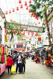 KUALA LUMPUR, MALAISIE - 10 JANVIER 2017 : Scène de rue en Kuala Lumpur, Malaisie Photos stock