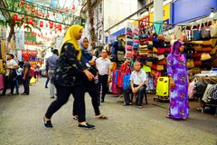 KUALA LUMPUR, MALAISIE - 10 JANVIER 2017 : Scène de rue en Kuala Lumpur, Malaisie Photo libre de droits