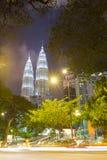 KUALA LUMPUR, MALAISIE - 15 JANVIER : Tours de Petronas Images stock