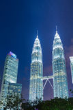 KUALA LUMPUR, MALAISIE - 15 JANVIER : Tours de Petronas Photo stock