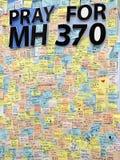 Kuala Lumpur, Malaisie le 23 mars 14 - priez pour MH370 photo stock