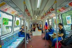 Kuala Lumpur, Malaisie - 9 mars 2017 : Le monorail de kilolitre est un système court et élevé de monorail qui se reliant photographie stock libre de droits