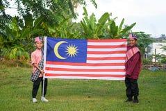 Kuala Lumpur, Malasia 3 de agosto de 2017: Estudiantes primarios malasios Fotografía de archivo libre de regalías