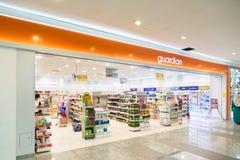 KUALA LUMPUR, MALASIA - 29 de enero de 2017: La farmacia del guarda es Imagen de archivo libre de regalías