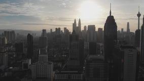 Kuala Lumpur, Malasia - 21 de enero de 2019: Vista a?rea de la capital de Malasia Kuala Lumpur de una altura almacen de metraje de vídeo