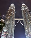 Kuala Lumpur, Malasia - 3 de noviembre de 2017: Parque de KLCC en la noche Fotos de archivo