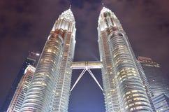Kuala Lumpur, Malasia - 3 de noviembre de 2017: Torres gemelas de Malasia Fotografía de archivo