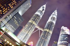 Kuala Lumpur, Malasia - 3 de noviembre de 2017: Torres gemelas Imagen de archivo