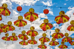 Kuala Lumpur, Malasia, diciembre 18,2013: Decorat chino del Año Nuevo Imagen de archivo libre de regalías