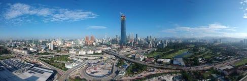 Free KUALA LUMPUR, MALAYSIA - 4 February 2018: Beautiful And Dramatic Aerial View Of Kuala Lumpur City With New Skyscraper Under Constr Stock Photography - 111289302