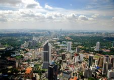 Kuala Lumpur, Malaysia: Aerial View of City Stock Photography