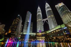 Petronas Twin towers and Suria KLCC. Royalty Free Stock Photos