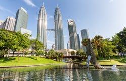 Petronas Twin towers and Suria KLCC. Royalty Free Stock Image