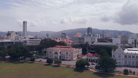 Aerial view of Georgetown Penang, Malaysia stock video footage